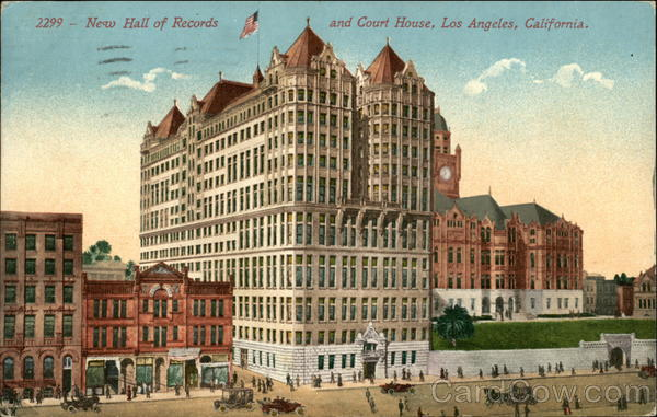 New Hall of Records and Court House Los Angeles California