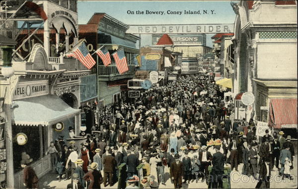On the Bowery Coney Island New York
