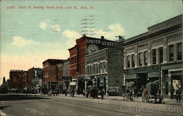 State Street Looking North from 12th Street Erie Pennsylvania