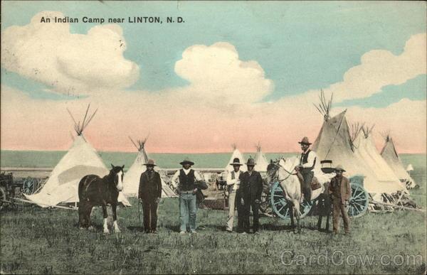 An Indian Camp Near Linton, N.D