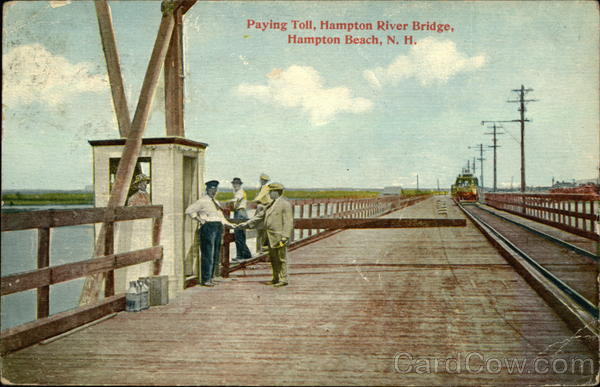 Paying Toll, Hampton River Bridge Hampton Beach New Hampshire