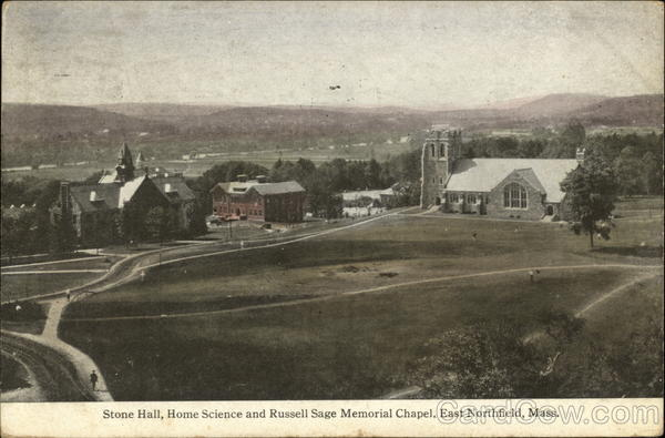 Stone Hall, Home Science and Russell Sage Memorial Chapel East Northfield Massachusetts