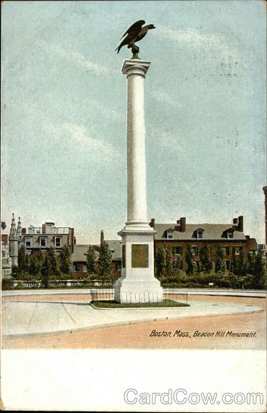 Beacon Hill Monument Boston Massachusetts