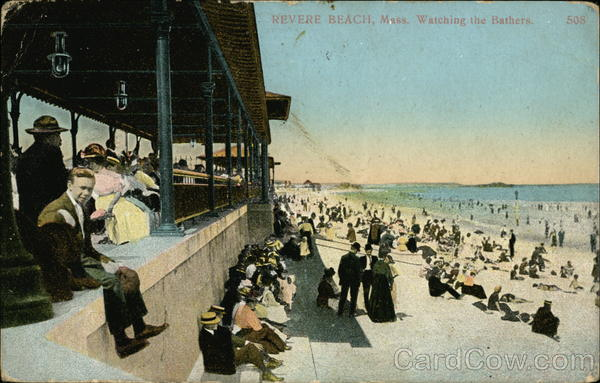 Wathing the Bathers Revere Beach Massachusetts