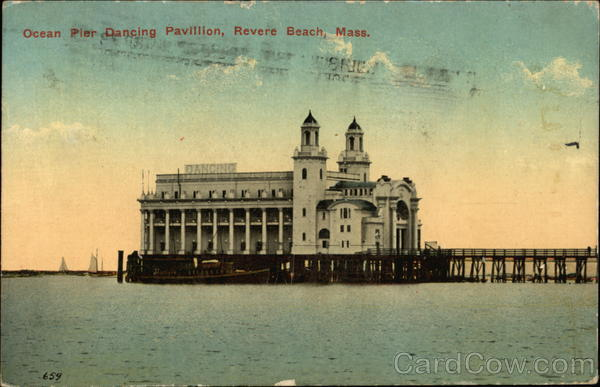 Ocean Pier Dancing Pavillion Revere Beach Massachusetts