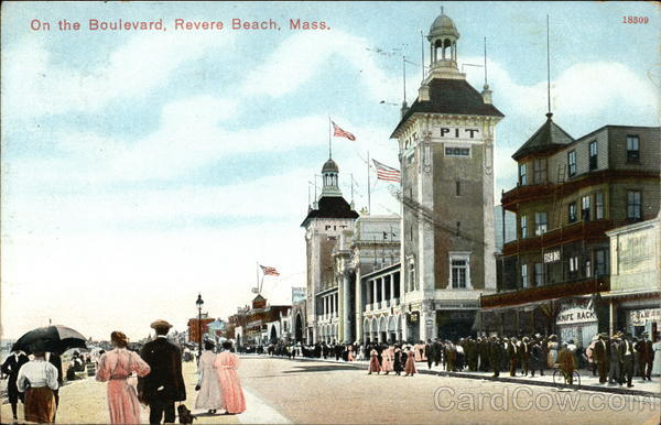 On the Boulevard Revere Beach Massachusetts