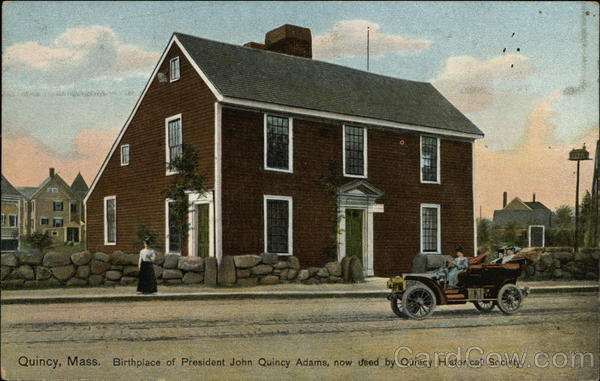 Birthplace of President John Quincy Adams, now used by Quincy Historical Society Massachusetts