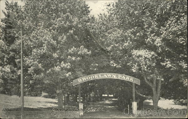 Brooklawn Park Entrance New Bedford Massachusetts