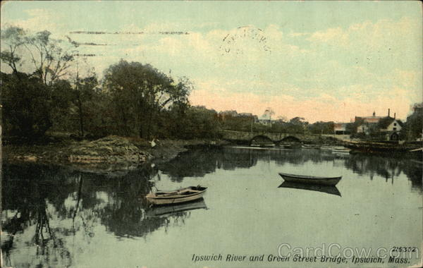 Ipswich River and Green Street Bridge Massachusetts