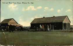 Sod and Wood Farm House, Western No. Dak
