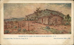 Roosevelt's Cabin on Ranch Near Medora, N.D