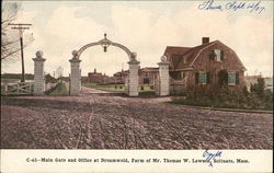 Main Gate and Office at Dreamwold, Farm of Mr. Thomas W. Lawson
