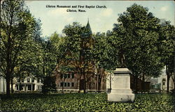 Clinton Monument and First Baptist Church