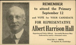 Vote for Representative Albert Harrison Hall