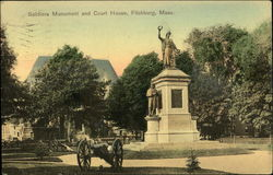 Soldiers Monument and Court House