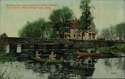Nunckatesett Canoe Club and Stone Bridge, Town River