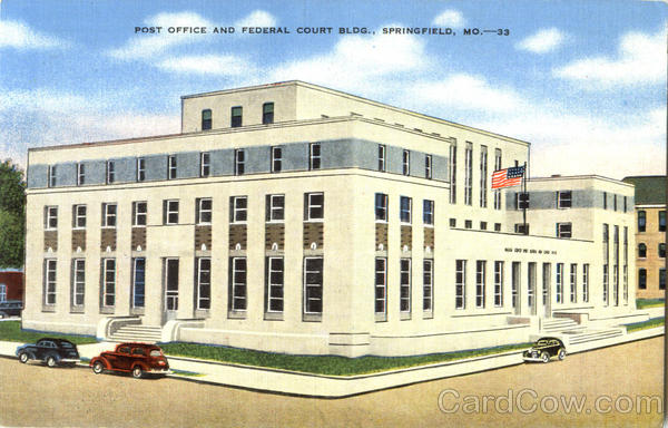 Post Office And Federal Court Bldg Springfield Missouri