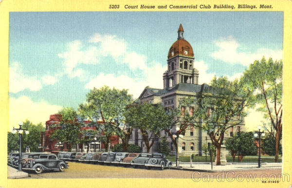 Court House And Commercial Club Building Billings Montana