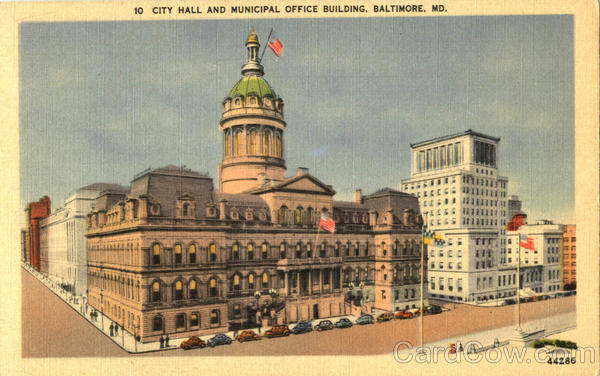 City All And Municipal Office Building Baltimore Maryland