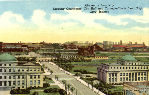 Airview Of Broadway Gary Indiana