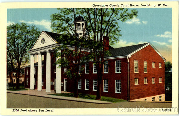 Greenbrier County Court House Lewisburg West Virginia