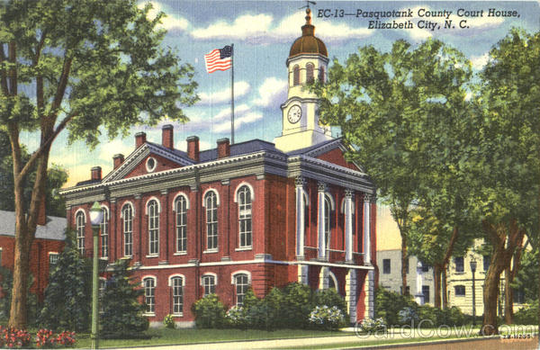 Pasquotank County Court House Elizabeth City North Carolina