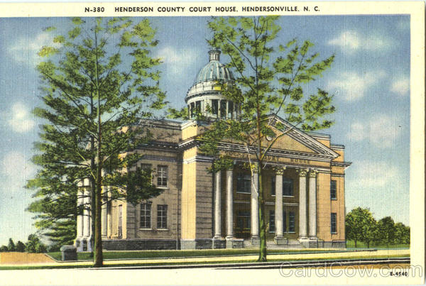 Henderson County Court House Hendersonville North Carolina