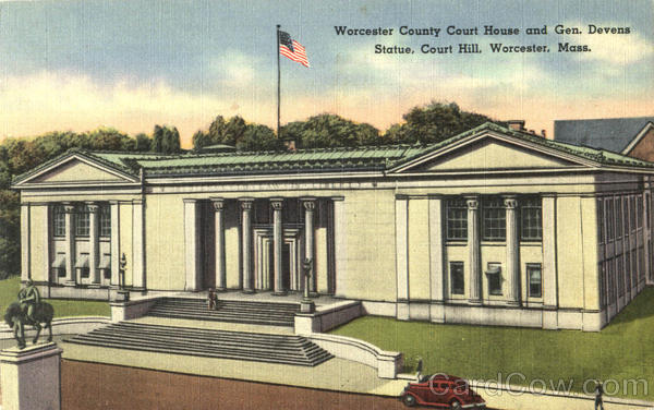 Worcester County Court House And Gen. Devens Statue Massachusetts