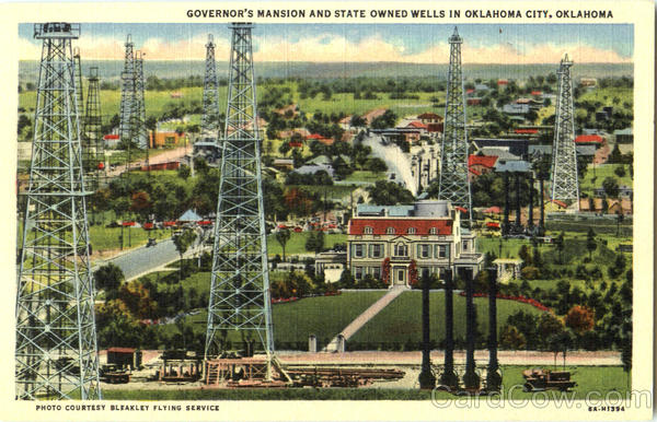 Governor's Mansion And State Owned Wells In Oklahoma City