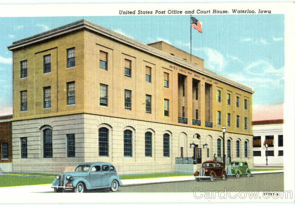 United States Post Office And Court House Waterloo Iowa