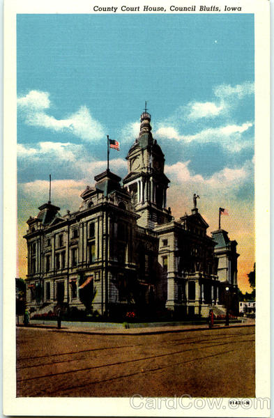 County Court House Council Bluffs Iowa