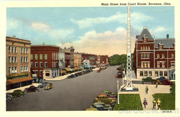 Main Street From Court House Ravenna Ohio