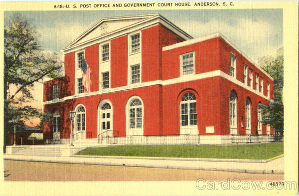 U. S. Post Office And Government Court House Anderson South Carolina