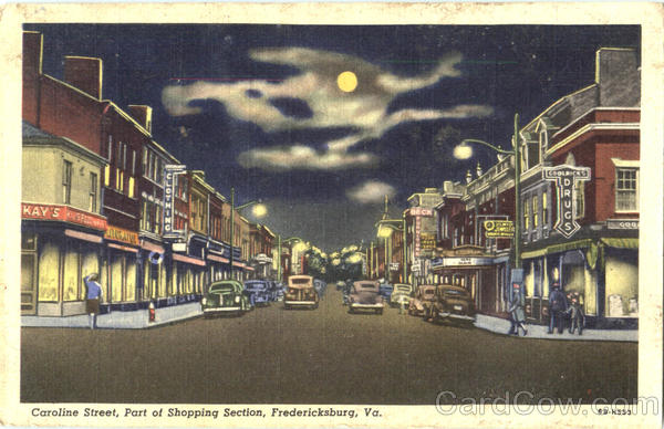 Caroline Street Part Of Shopping Section Fredericksburg Virginia