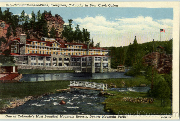 Troutdale In The Pines Old Postcard