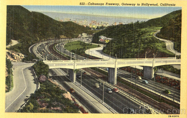 Cahuenga Freeway Hollywood California