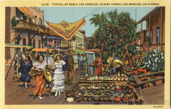 Typical Of Early Los Angeles, Olvera Street California