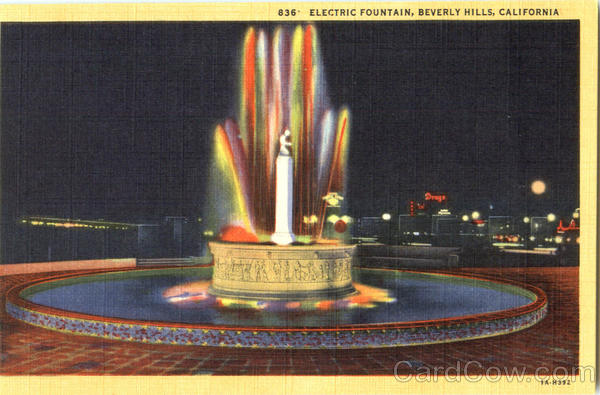 Electric Fountain Beverly Hills California