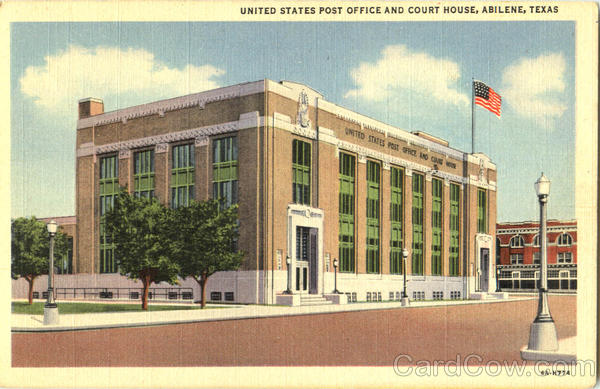 United States Post Office And Court House Abilene Texas