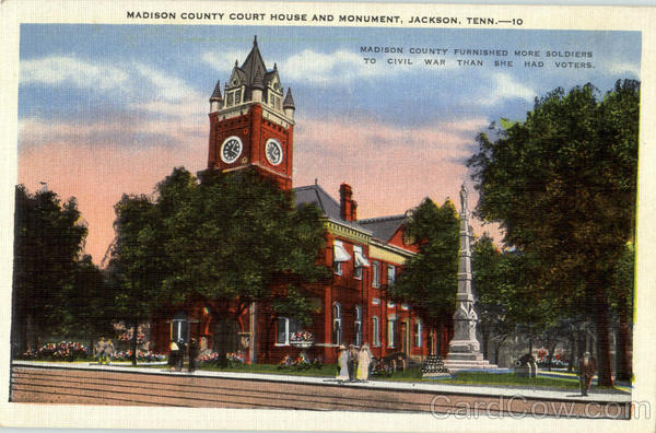 Madison County Court House And Monument Jackson Tennessee