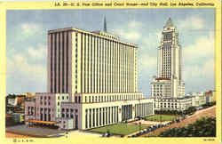 U. S. Post Office And Court House And City Hall Postcard