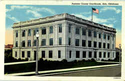 Pontotoc County Courthouse Postcard