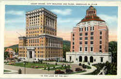 Court House City Building And Plaza Postcard