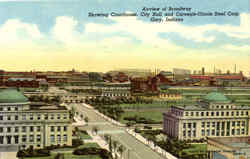 Airview Of Broadway Postcard