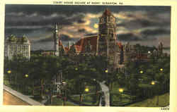 Court House Square At Night