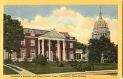 Governor's Mansion And State Capitol Dome