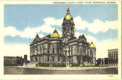 Vanderberg County Court House Postcard