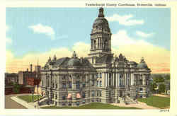 Vanderburgh County Courthouse Postcard