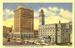 First National Bank Building And Court House Postcard