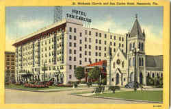 St. Michaels Church And San Carlos Hotel Postcard